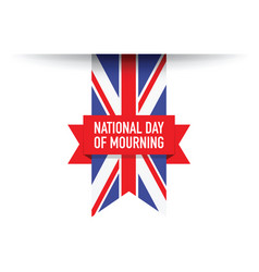 United kingdom national day of mourning flag vector