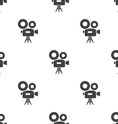 Video camera seamless pattern vector