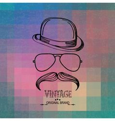 vintage man elements vector image