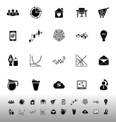 Virtual organization icons on white background vector