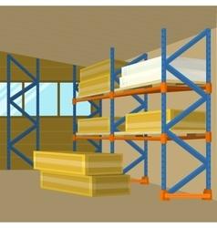 Warehouse hangar building in flat design vector