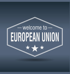 welcome to european union vector image