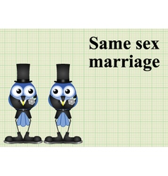 Male same sex marriage vector image