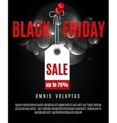 Black friday poster background vector