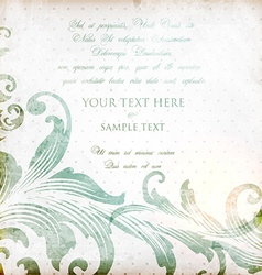 Rustic invitation vector