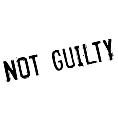 Not guilty stamp vector