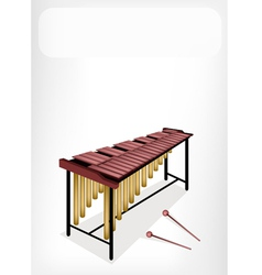 Two retro marimba with a white banner vector