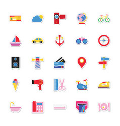 Summer and holidays icons 6 vector