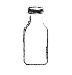 Cristal bottle isolated icon vector