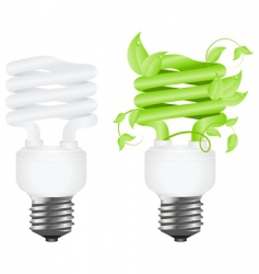 power saving lamps vector image