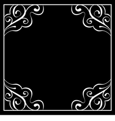 White frame on a black background vector