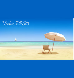 Seaside view background vector