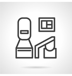 Black line medical equipment icon vector