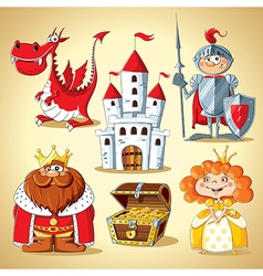 Set of fairy tale characters vector image