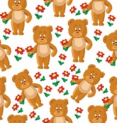 Teddy bear pattern vector