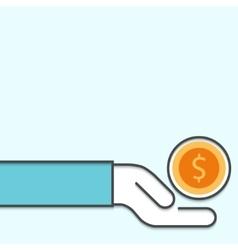 Modern outline flat design of earning vector