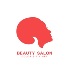 Beauty salon logo template vector