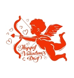 Cupid silhouette vector