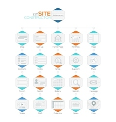 Set of flat website templates navigation vector
