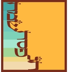Abstract greeting card for jewish holiday passover vector