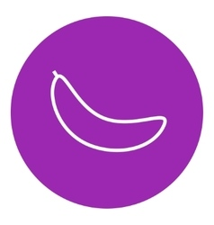 Banana line icon vector