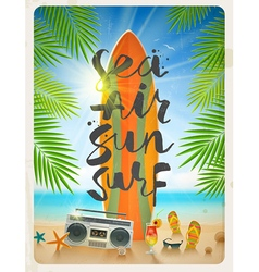 Summer beach vacation vector