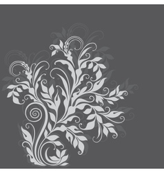 Elegant decorative floral vector