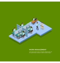 Isometric presentation room concept vector