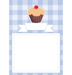 Blue restaurant menu card baby shower list vector image vector image