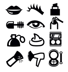 cosmetics and makeup icon vector image