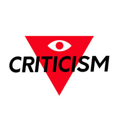 Criticism typographic stamp vector