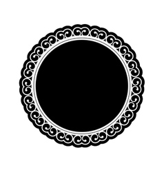 Embellished emblem icon image vector