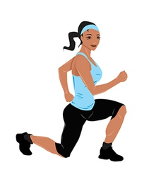 Fit woman vector image vector image