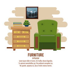 furniture home interior vector image vector image