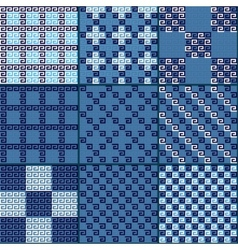 Greek patterns vector image vector image