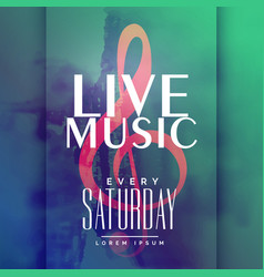 Live music event poster design template vector