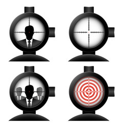 optical sight set vector image vector image