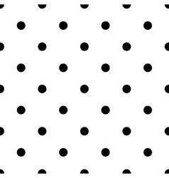 Polka dot black vector