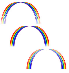 Rainbow sign set 305 vector