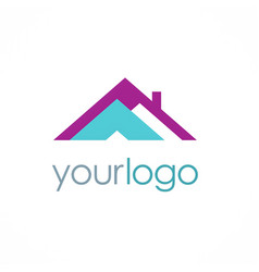 Roof realty logo vector