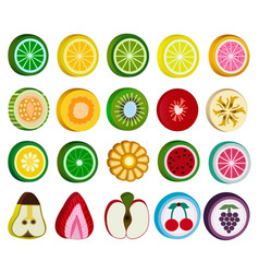 Set of fruit candy sweets isolated on white vector