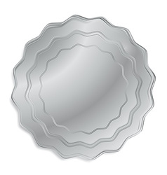 silver medal that can be used as a seal the price vector image vector image