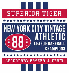 superior tiger new york vintage vector image