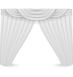 White curtains on a white background vector image