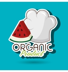 Organic food chef hat vector