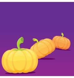 Halloween invitation border with pumpkins vector