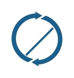 Arrow blue direction design vector