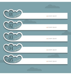 Creative design template with stylized clouds vector