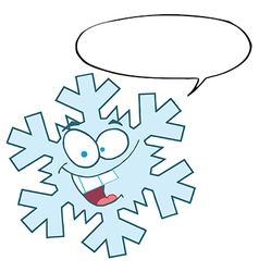 Snowflake character with speech bubble vector