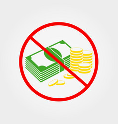 Do not pay cash sign vector